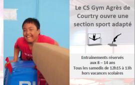 Ouverture créneaux gymnastique sport adapté